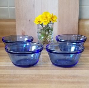 💖💖Cobalt Blue Custard Cups